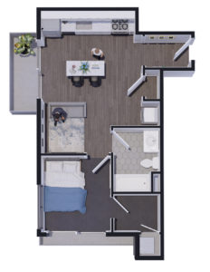 Salt Flats Living One Bedroom C
